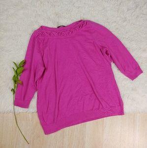 Worthington Ruffle Pullover Sweater